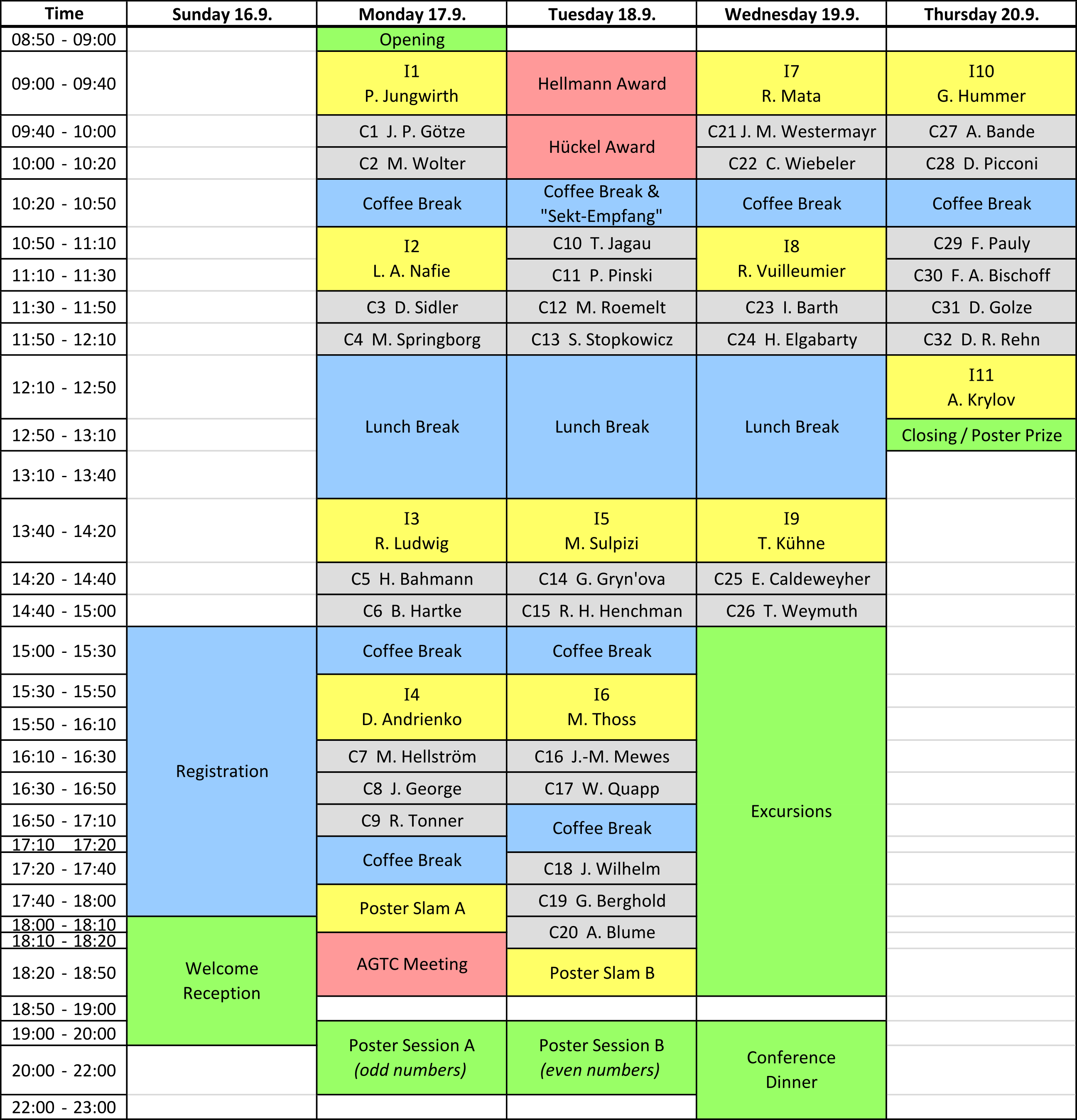 STC 2018 Conference Schedule